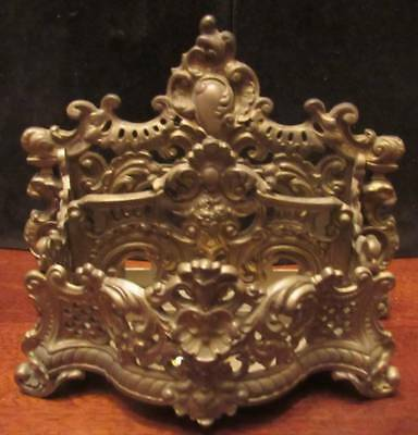 "BRADLEY & HUBBARD ANTIQUE ORIGINAL BRASS LETTER HOLDER 10"" CIRCA 1890's"