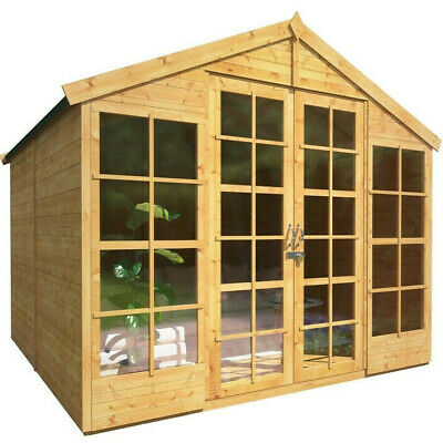 BillyOh Harper Tongue and Groove Double Door Garden Summerhouse Apex Roof & Felt