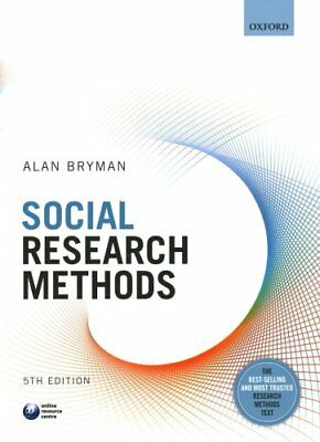 Social Research Methods by Alan Bryman 9780199689453 (Paperback, 2015)