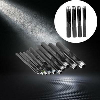 10Pcs Metal Heavy Duty Punch Hole Kits Round Hollow Punch Circle Cutting Tool