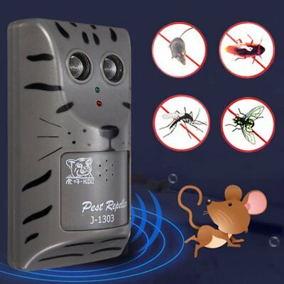Double Head Ultrasonic Pest Repeller Plug In Pest Rodent Mouse/Mice/Rat/Insect M