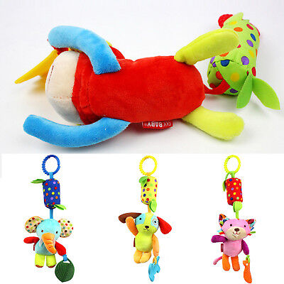 Baby Rattle Soft Plush Toy Lion Monkey Toy Car Ring Bell Crib Infant Baby Doll