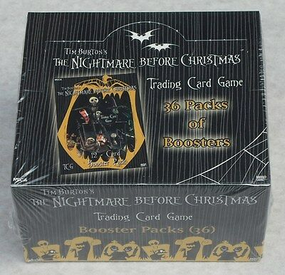 The Nightmare Before Christmas Tcg 36 Pack Booster Box New & Sealed + Extras