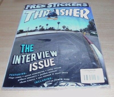 Thrasher magazine #447 OCT 2017 The Interview Issue Tiago Lemos Auby Taylor &