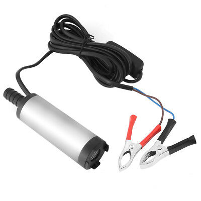 12V 3.8cm Stainless Steel Submersible Pump Fuel Transfer Refueling 8500r/m DH
