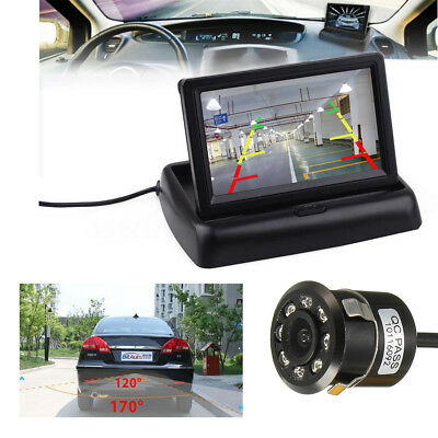 4.3 inch LCD Car Rear View Monitor + Night Vision Reverse Backup Parking Camera