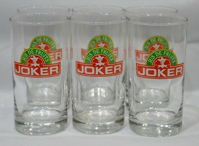 JOKER Jus de fruit soft drink 6 verres NEUF