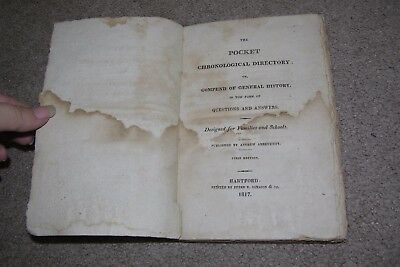 1817 Pocket Chronological Directory General History Questions & Answers 1st Ed