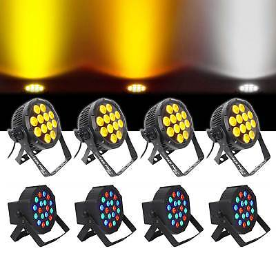 (4) Chauvet DJ SlimPar Pro W USB D-Fi LED Wash lights + (4) RGB Par Can Lights