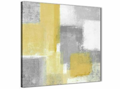 Mustard Yellow Grey Bathroom Canvas Accessories - Abstract 1s367s - 49cm