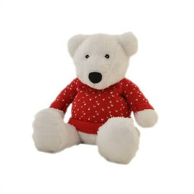 Intelex Cozy Plush Polar Bear In Jumper Fully Microwavable Heatable Bed Time