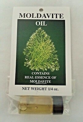 Mineral Oil With Real Moldavite Essence - 1/4 Ounce Bottle