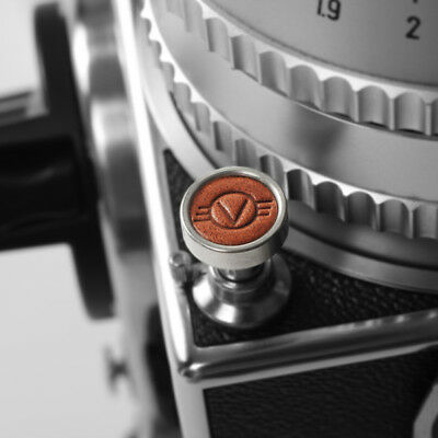 Exquisite Made - Metal and Leather Soft Shutter Button (Brown) - Hasselblad