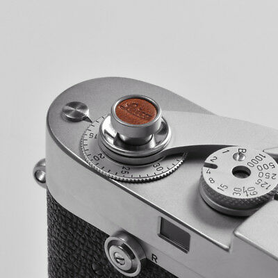Exquisite Made - Metal and Leather Soft Shutter Button (Brown) - Leica
