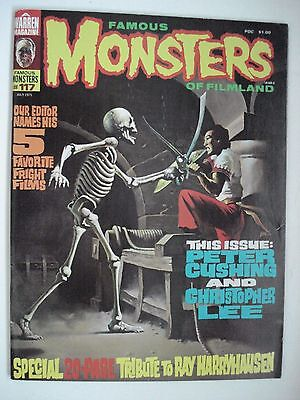 Famous Monsters Of Filmland Christopher Lee English Magazine # 117 1975