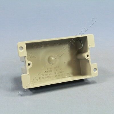 P&S Slater Shallow Old Work 1-Gang Flange Box Switch & Outlet Retrofit P1-08-W