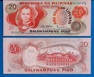 Philippines P-155 20 Piso Year ND 1970's Uncirculated Banknote