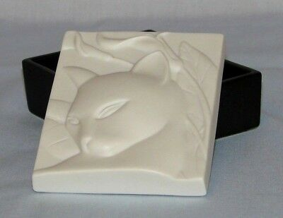 Crowning Touch Special Gifts SLEEK SOPHISTICATED CAT Trinket Box~White and Black