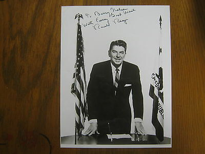 RONALD  REAGAN (D. 2004) California Governor  Signed  8 x 10  B & W Glossy Photo
