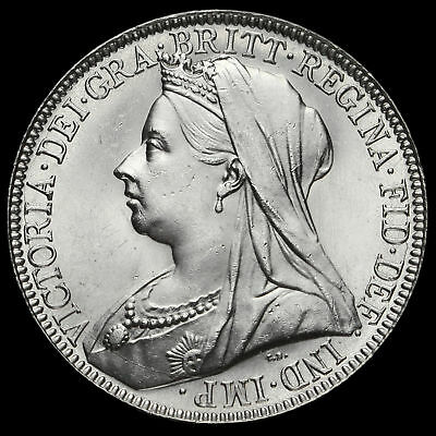 1894 Queen Victoria Veiled Head Silver Florin, Scarce, A/BU
