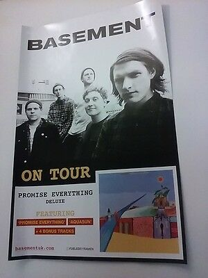 POSTER by BASEMENT promise everything For The bands new album tour promo gig cd