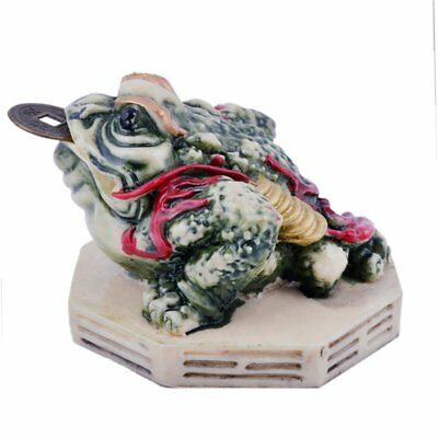 Fengshui Colour Bagua Three Legged Money Frog/toad W Fengshuisale Red String
