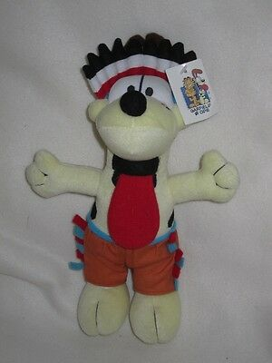 """RED INDIAN ODIE DOG FROM GARFIELD 12"""" SOFT TOY NEW Wv TAG"""
