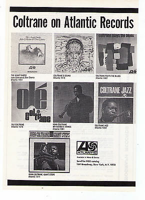 "John Coltrane ""Giant Steps"" Album Atlantic Records Collection Vintage Print Ad"