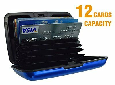 UTRAX 12 Slots Aluma Wallet Multi Pockets Aluminum Purse Credit Cards Organizing
