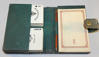Vintage 1930's TK Bridge Set With 2 Sets Of A.Dougherty Indicator Playing Cards