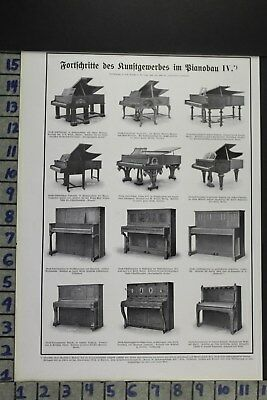 1907 Musical Instruments Grand Upright Piano Singing Dancing Vintage Ad Dz081