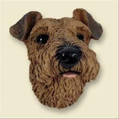 Airedale Terrier Dog Head Painted Stone Resin MAGNET