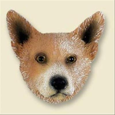 Australian Cattle Dog Red Brown Dog Head Painted Stone Resin MAGNET