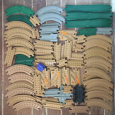 Fisher Price Geo Trax Tracks Straight Curved Switching Lot of 70+