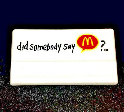 COLLECTIBLE NAMETAG - OLD McDONALDS JINGLE! McDonald's Employee Uniform Name Tag