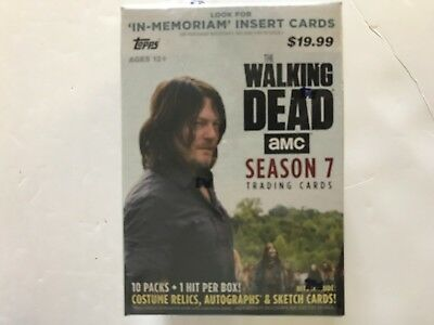 2017 Topps The Walking Dead Amc Season 7 Blaster Box ( 1 Hit Per Box )
