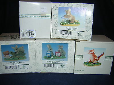 """CHARMING TAILS Lot of 5, RACE, No """"US"""", FIREFLIES, AHH CHOO NEW Never Displayed"""