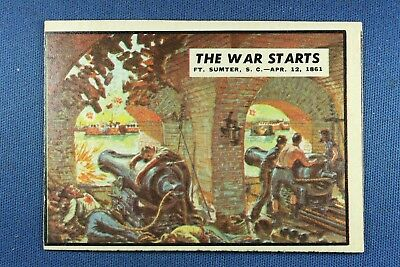 "1962 Topps Civil War News - #3 ""The War Starts"" - Excellent Condition"
