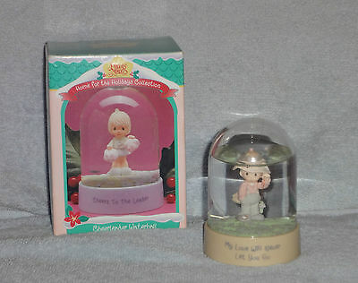 Enesco Precious Moments My Love Will Never Let You Go Fishing Waterball w Box