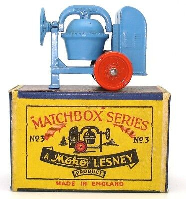 Lesney Matchbox No. 3 Cement Mixer - 1953 - Mint Boxed
