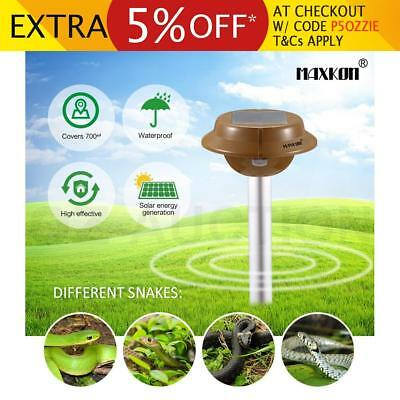 Snake Repeller Sonic Pulse Solar Powered Pest Repellent With 700sqm Coverage