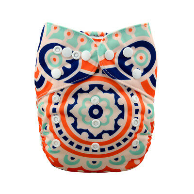 ALVA Cloth Diaper One Size Pocket Reusable Washable Nappy +1Insert New Logo