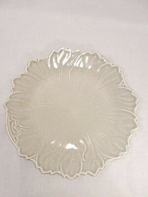 Russel Wright WOODFIELD STEUBENVILLE Dove Gray DINNER leaf PLATE