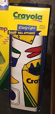 Crayola Decorative Wall Easy Ups By Village Crayons Child Baby Kids Room 1997