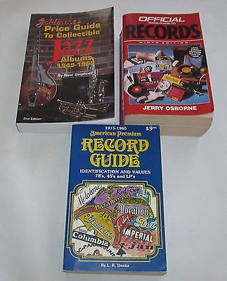 3 Music Record Price Guides Rock, Jazz, Vintage,  Country, Oldies EVERYTHING!