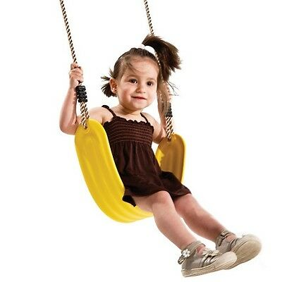STRAP SWING SEAT WITH ROPE~YELLOW PP Outdoor Swing Set Playground Equipment Kid