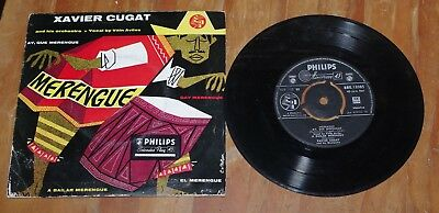 "'Merengue' XAVIER CUGAT & VITIN AVILES 7"" vinyl single Philips BBE 12085"