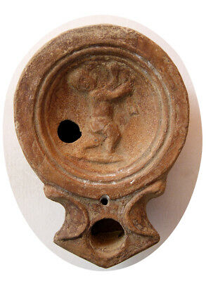 PCW-AN285-ROMAN EMPIRE. Circa 2nd-3rd. Century AD. Terracotta Oil Lamp. Intact.