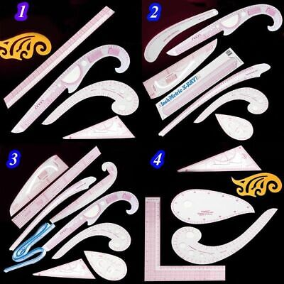 French Hip Curve Ruler Set Sewing Tool Tailor Drawing Design Pattern Dressmaking