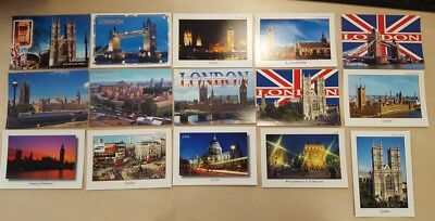15 LONDON POSTCARD SET A -15cards - Tower Bridge Big Ben Parliament St Pauls NEW